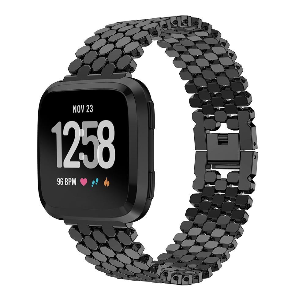 Smart Accessories New arrival Fashion Stainless Steel Watch Band Wrist metal strap for fitbit versa Smart Watch Band Link Strap Bracelet bands