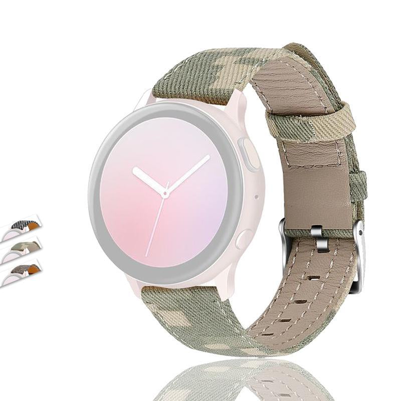 Smart Accessories Smart Accessories Nylon Canvas Leather Replacement Band Strap For Samsung Watch Active 2 40/44mm 2020 Hot Sale Dropshipping|Smart Accessories|
