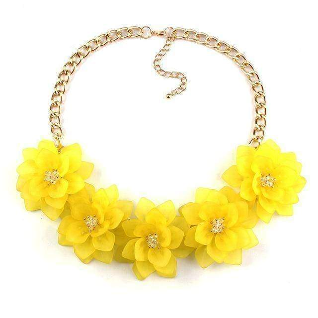 statement necklaces yellow Flower Statement Necklace