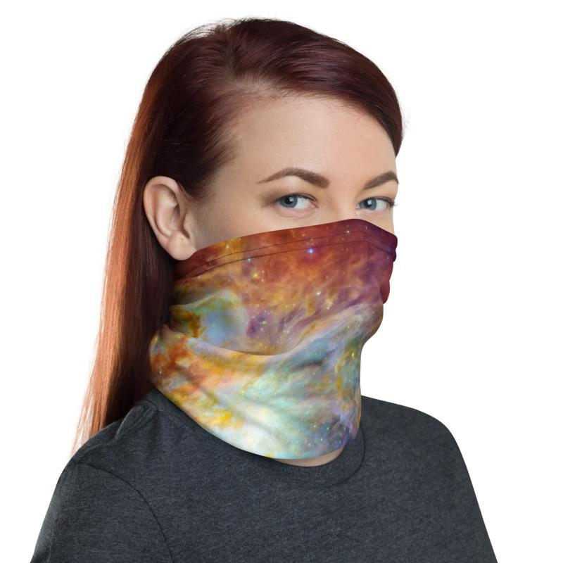 The Cosmic Cloud Orion Nebula Neck Gaiter Multi functional Face Mask cover Head wrap Balaclava Wrist&Hairband men women - US Fast Shipping