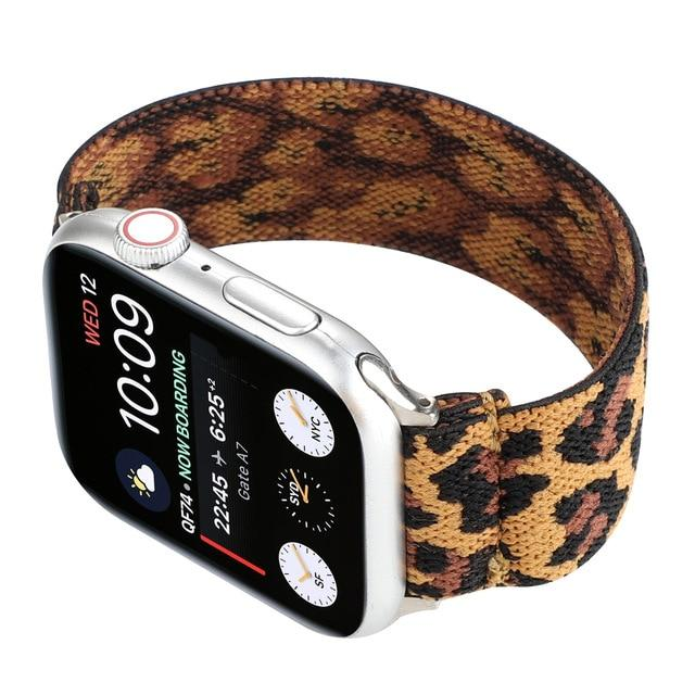 Watchbands Leopard print / 38mm / 40mm Stretchy Nylon Strap For apple watch band 44 mm 40mm correa bracelet iwatch band 42mm 38mm watchband apple watch 5 4 3 2 42 /44mm|Watchbands