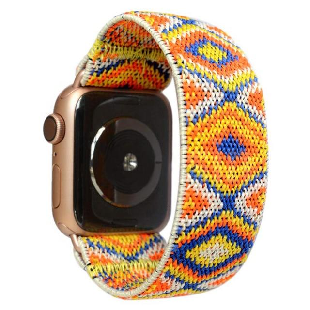 Watchbands NEW 56 / 38mm / 40mm Scrunchie Strap for apple watch band 40mm 44 mm iwatch band 42mm 38mm girl women Stretchy bracelet apple watch series 5 4 3 2 38|Watchbands