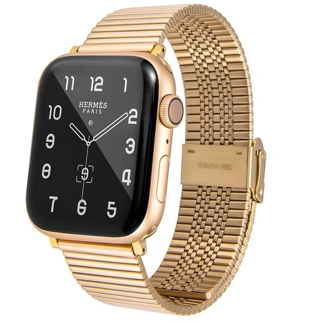 Watchbands gold / For 38mm and 40mm Stainless Steel Strap For Apple Watch band 42mm 38mm 1/2/3/4 Metal Watchband Bracelet Band for iWatch Series 4 5 6 SE 44mm 40mm|Watchbands|