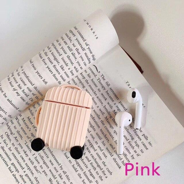 Earphone Accessories Apple Airpods Cover Soft Silicone strunk lovely Shockproof Case for AirPods Thickening Earphone anti drop Protector Case