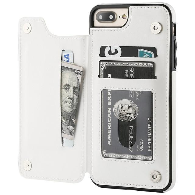 Fitted Cases for iPhone 6 6s / White Business Wallet Cases For iPhone 12 Mini 11 Pro XS Max XR X Cover Retro Flip Leather Phone Case For iPhone 6S 6 7 8 Plus SE 2020|Fitted Cases|