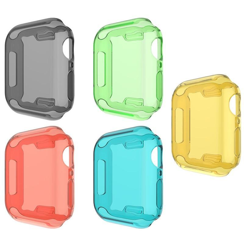 Watch Cases Candy Color Watch Case For Apple Watch Series 5 4 Full Screen Protection Shell Protective Case For iWatch 40/44mm Accessories