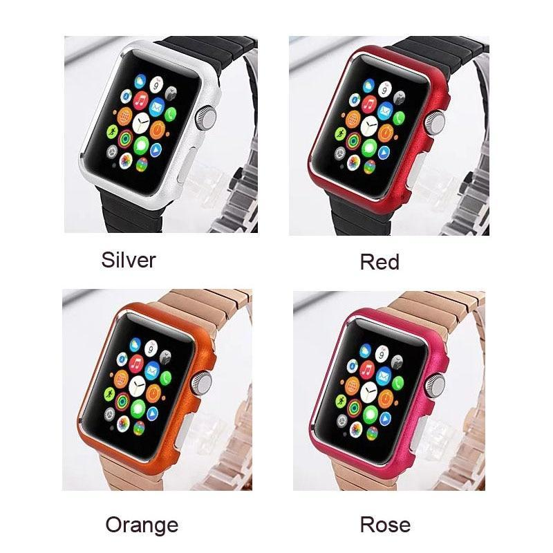 Watch Cases Hard Bumper Case for iWatch Apple Watch Series 4 3 2 1 42mm 38mm Colorful Protective Cover Aluminum Alloy Metal Watch Cover