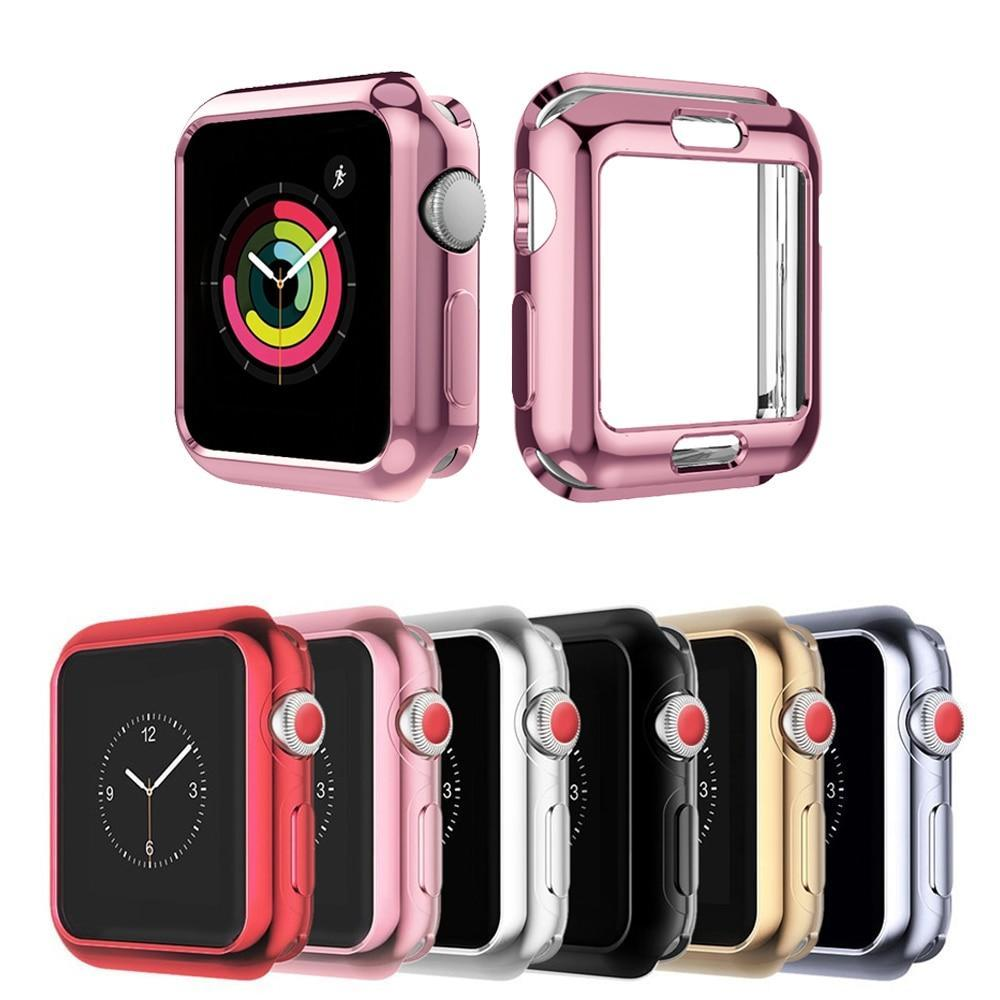 Watch Cases Watch case for Apple Watch band 44mm 40mm iwatch band 42mm correa 38 mm 5 4 3 2 1 Screen Protector All around Ultra thin cover