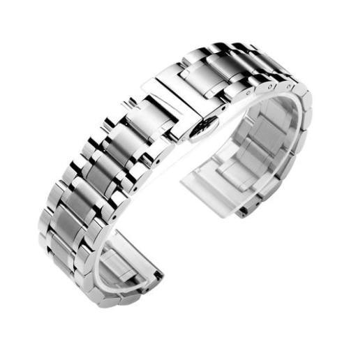 Watchbands 1 / 14mm 14 16 18 20 22 24 26mm watch Accessories Stainless Steel Watch band metal Strap Bracelet Watchband Wristband Butterfly belt|Watchbands|