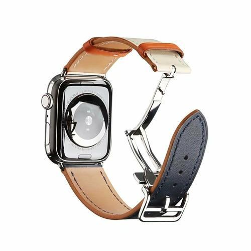 Watchbands 1 / 38mm Genuine leather strap for apple watch band 44mm 40mm 42mm 38mm fits iwatch hermes edition Series 5 4 3 2 1 bracelet buttefly Buckle watchband