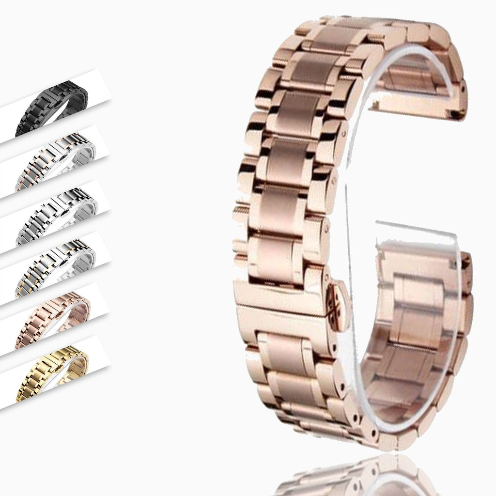 14 16 18 20 22 24 26mm watch Accessories Stainless Steel Watch band metal Strap Bracelet Watchband Wristband Butterfly belt|Watchbands|