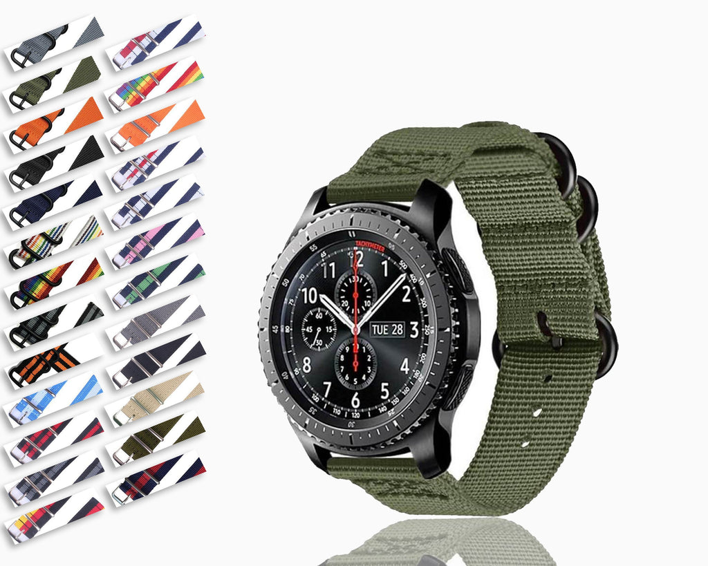 Watchbands 18/20/22mm Nato strap for Samsung Galaxy watch 46mm/42mm/Active 2 band Gear S3 Frontier/Huawei watch GT 2/Amazfit Bip bracelet