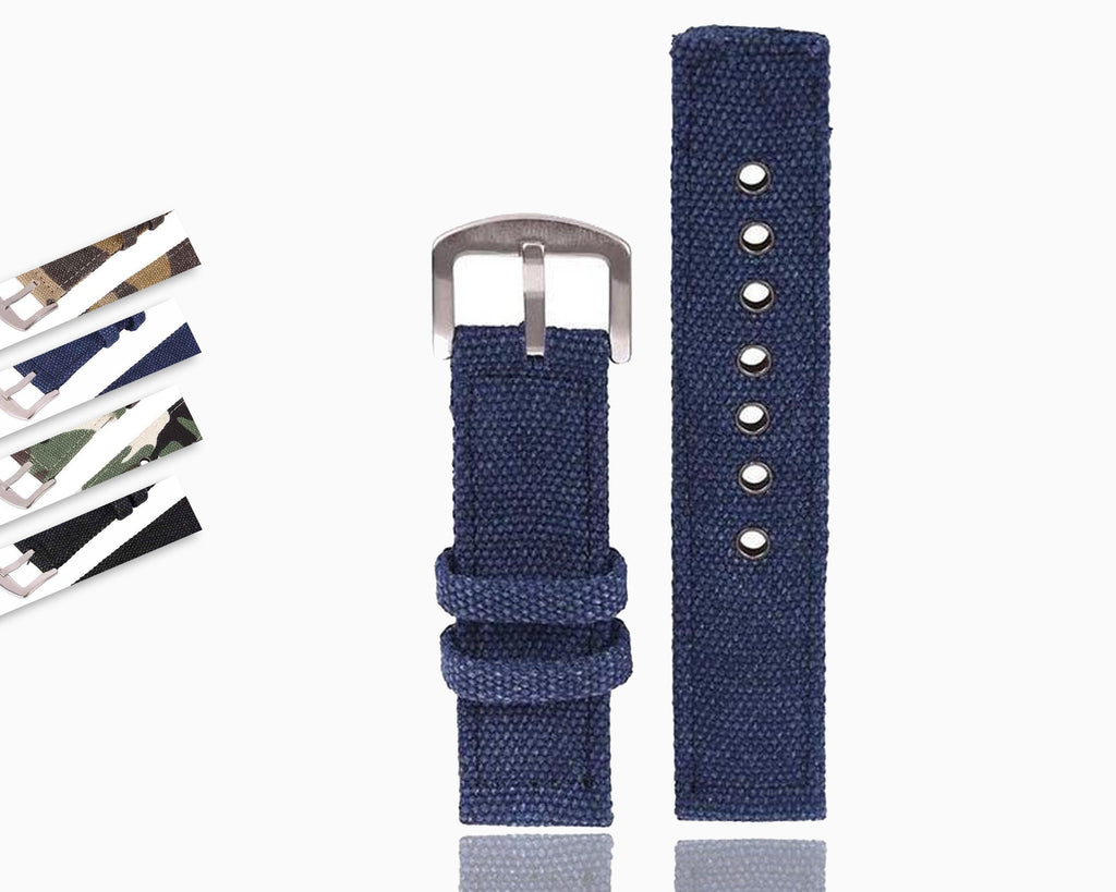 Watchbands / 18mm 20mm 22mm 24mm Canvas Camouflage Watch Band Strap For Men Women   Watches Belt Accessories Wrist Watch Bracelet|Watchbands|