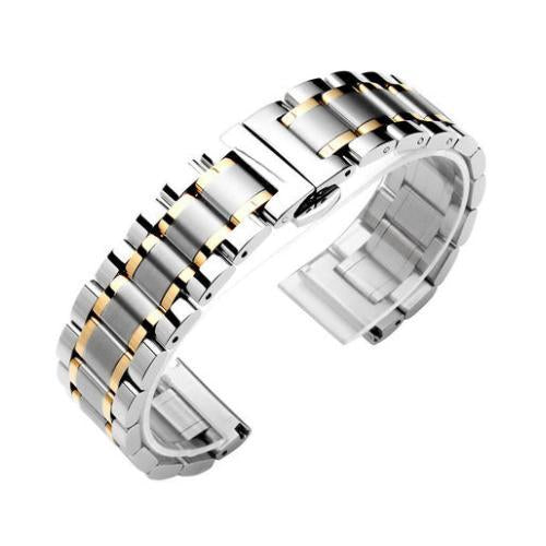 Watchbands 2 / 14mm 14 16 18 20 22 24 26mm watch Accessories Stainless Steel Watch band metal Strap Bracelet Watchband Wristband Butterfly belt|Watchbands|