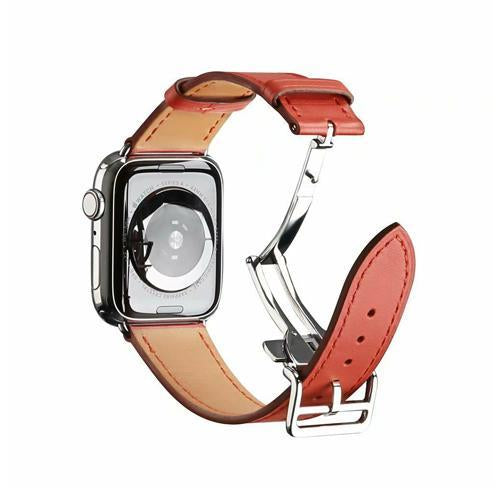 Watchbands 2 / 38mm Genuine leather strap for apple watch band 44mm 40mm 42mm 38mm fits iwatch hermes edition Series 5 4 3 2 1 bracelet buttefly Buckle watchband