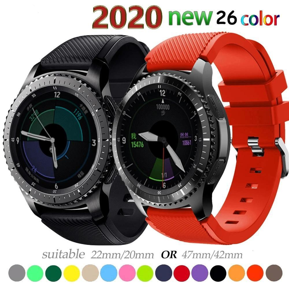 Watchbands 20 22mm watch band For Samsung Galaxy watch 46mm 42mm active 2 gear S3 Frontier strap huawei watch GT 2 strap amazfit bip 47 44