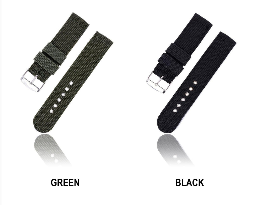 Watchbands 2019 New 4 Colors Military Army Watch Band Nylon Fabric Canva Wrist Watch Band Strap 18/20/22/24mm Reloj Kol Saati|Watchbands|