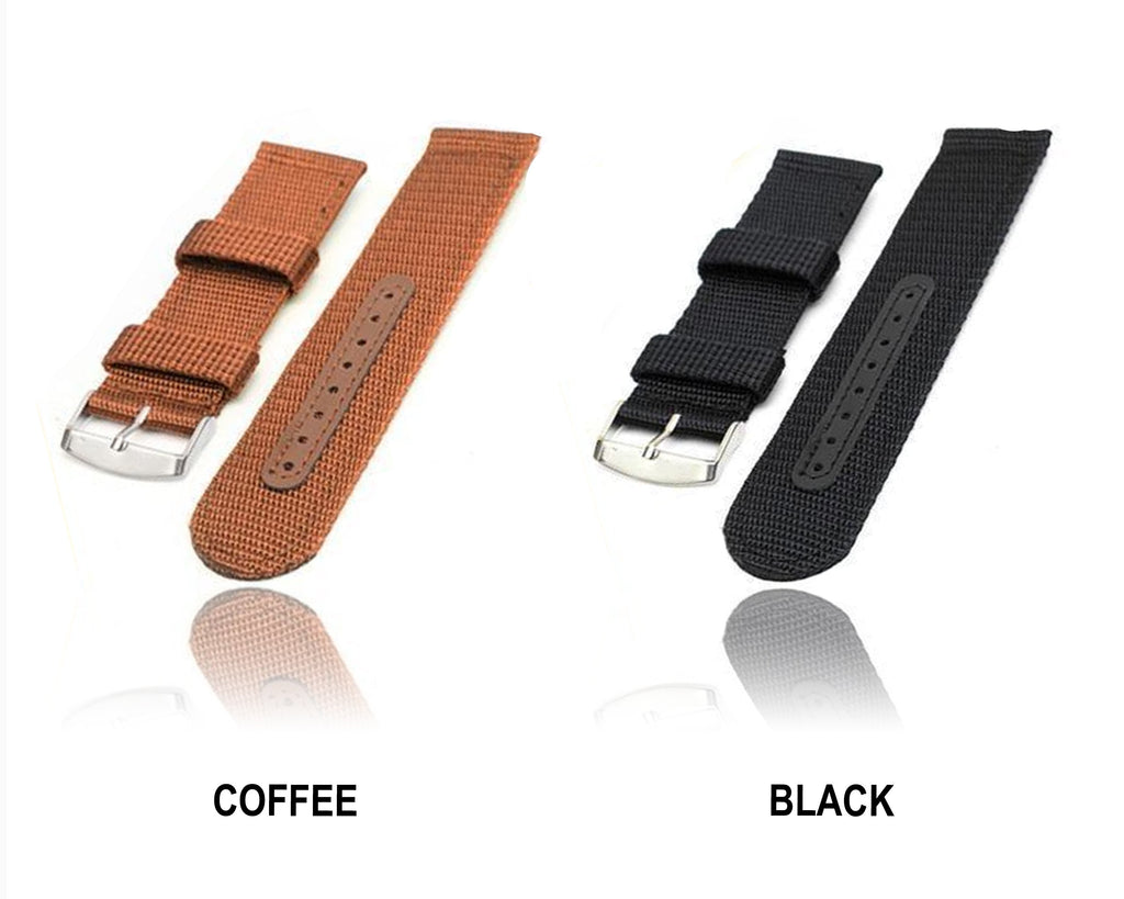 Watchbands 2020 Watch Band Military Army Nylon Fabric Canva Wrist Watch Band Strap 18/20/22/24mm 4Color women's watches Accessories*|Watchbands|