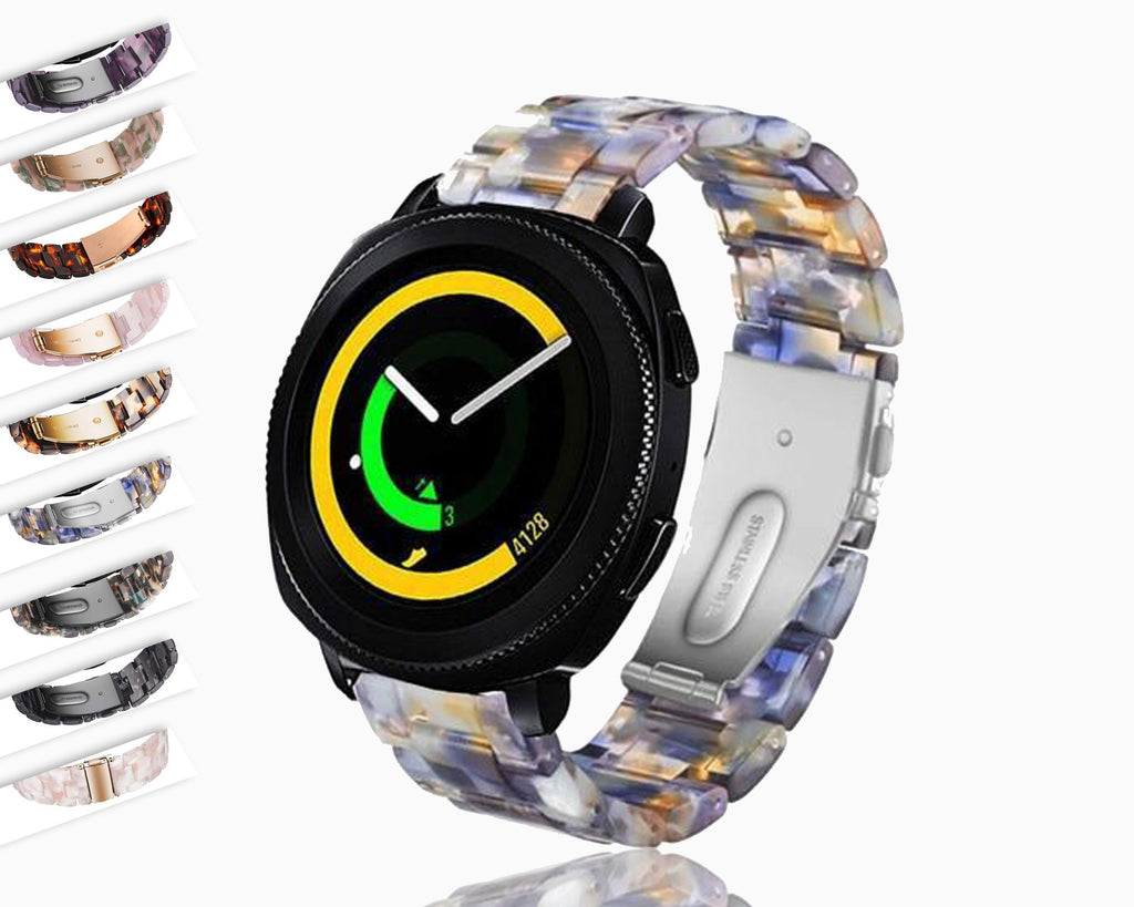 Watchbands 20mm Resin watch strap for samsung galaxy watch active 2 S2 classic galaxy 42mm band amazfit GTR 42mm amazfit bip bracelet|Watchbands|