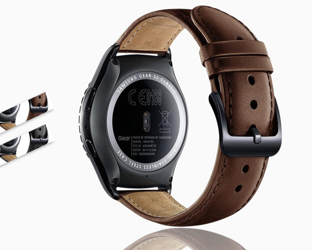 Watchbands 22mm/20mm leather strap for samsung Gear S2 Classic S3 frontier galaxy 46mm/42mm band huawei watch gt 2 amazfit bip bracelet|Watchbands|