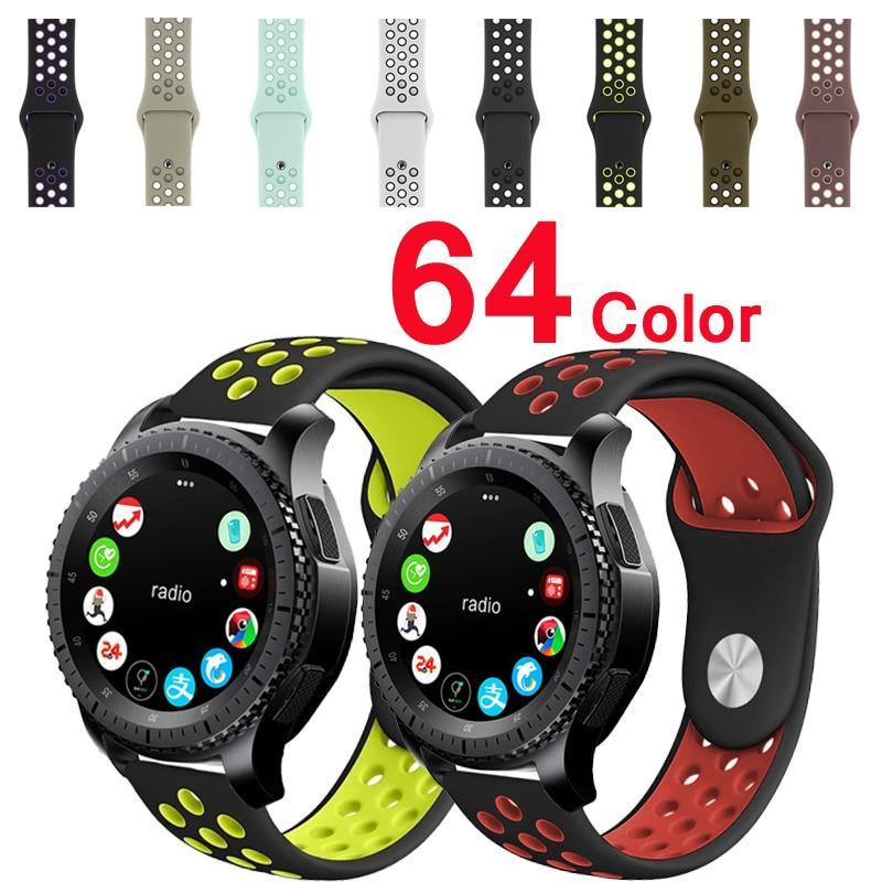 Watchbands 22mm 20mm watch strap for samsung galaxy watch active 46mm band gear S3 frontier 42mm huawei watch gt strap silicone watchband