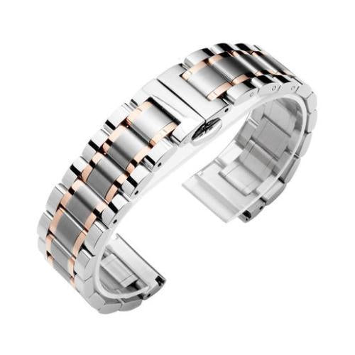 Watchbands 3 / 14mm 14 16 18 20 22 24 26mm watch Accessories Stainless Steel Watch band metal Strap Bracelet Watchband Wristband Butterfly belt|Watchbands|
