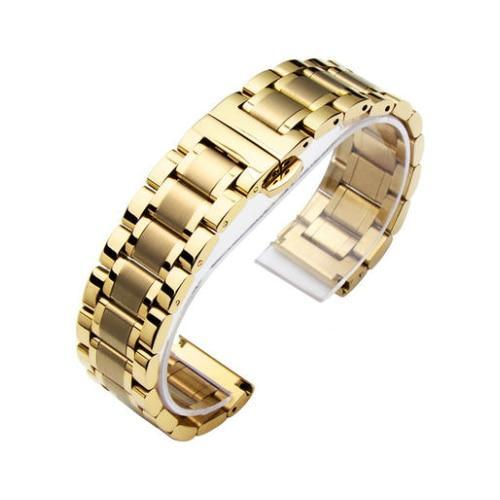 Watchbands 4 / 14mm 14 16 18 20 22 24 26mm watch Accessories Stainless Steel Watch band metal Strap Bracelet Watchband Wristband Butterfly belt|Watchbands|