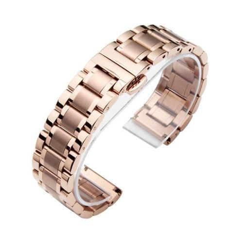 Watchbands 5 / 14mm 14 16 18 20 22 24 26mm watch Accessories Stainless Steel Watch band metal Strap Bracelet Watchband Wristband Butterfly belt|Watchbands|