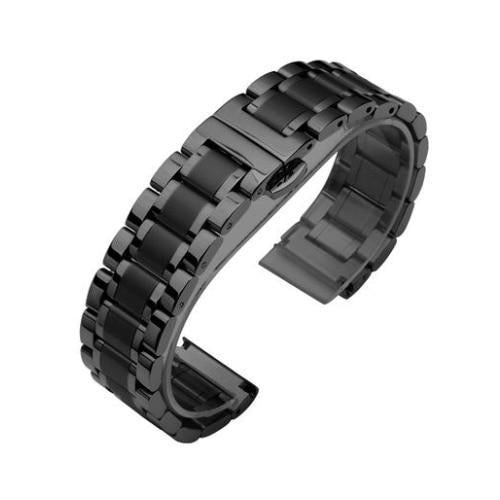 Watchbands 6 / 14mm 14 16 18 20 22 24 26mm watch Accessories Stainless Steel Watch band metal Strap Bracelet Watchband Wristband Butterfly belt|Watchbands|