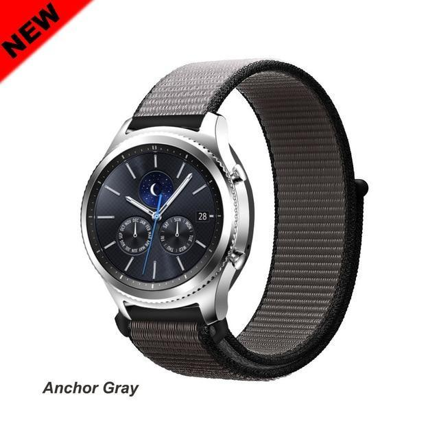 Watchbands Anchor Gray 44 / 20mm Gear s3 Frontier strap For Samsung galaxy watch 46mm 42mm active 2 nylon 22mm watch band huawei watch gt strap amazfit bip 20 44