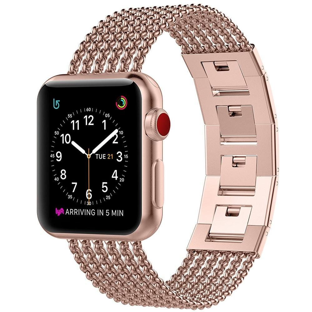 Watchbands Apple Watch Band iWatch Womens Mesh Loop Stainless Steel Replacement Metal Beauty Strap fits Series 5 4 3, 38mm 40mm 42mm 44mm