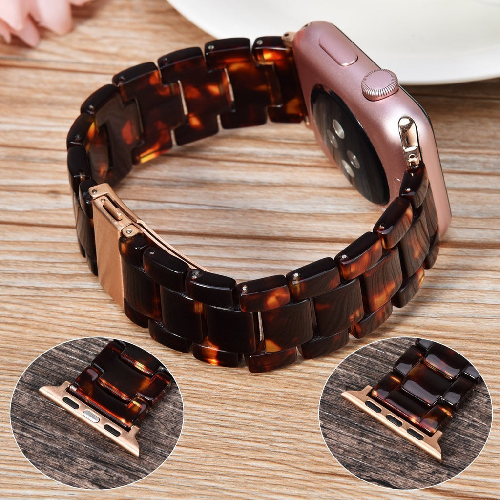 Watchbands Apple watch Resin Strap iwatch band stainless steel buckle Watchband bracelet 5 4 3 2 1,  42mm 38mm 44mm 40mm