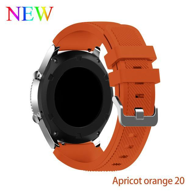 Watchbands Apricot orange 20 / 22mm 20 22mm watch band For Samsung Galaxy watch 46mm 42mm active 2 gear S3 Frontier strap huawei watch GT 2 strap amazfit bip 47 44