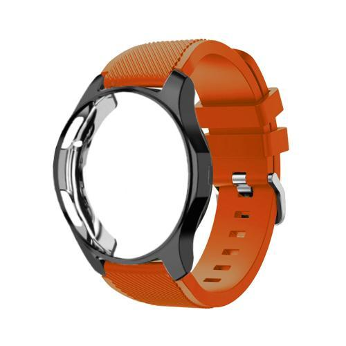 Watchbands Apricot orange 20 / Galaxy watch 42mm Case+20mm watch strap For Samsung gear S3 Frontier 46mm huawei watch GT strap 22mm watch band amazfit bip strap+protective case