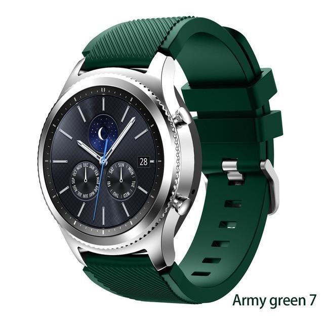 Watchbands Army green 7 / 22mm 20 22mm watch band For Samsung Galaxy watch 46mm 42mm active 2 gear S3 Frontier strap huawei watch GT 2 strap amazfit bip 47 44