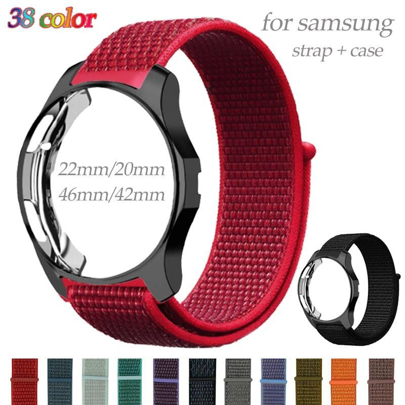 Watchbands Band+Case For Samsung gear S3 Frontier Galaxy watch 46mm 42mm strap 20mm 22mm watch band nylon bracelet watch accessories