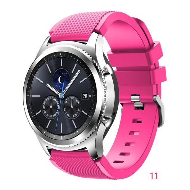 Watchbands Barbie powder 11 / 22mm 20 22mm watch band For Samsung Galaxy watch 46mm 42mm active 2 gear S3 Frontier strap huawei watch GT 2 strap amazfit bip 47 44
