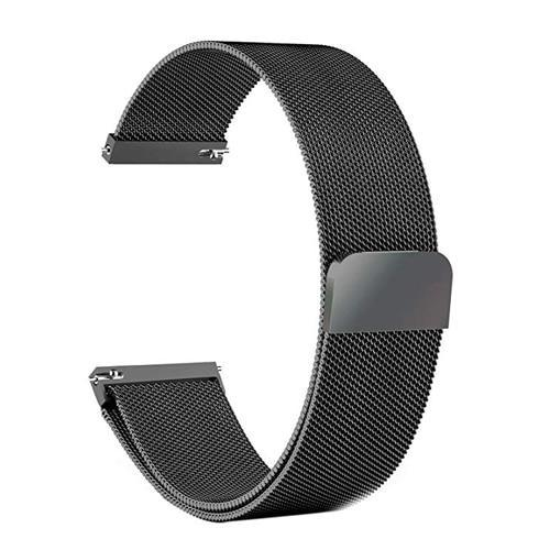 Watchbands black / 22mm 20mm/22mm Universal Milanes loop strap Magnetic Closure Stainless Steel Watch Band Quick Release metal smartwatch bracelet belt