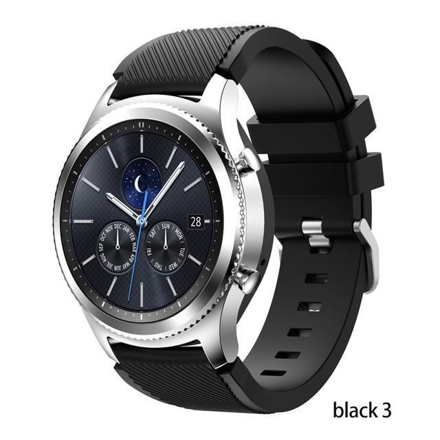 Watchbands black 3 / 22mm 20 22mm watch band For Samsung Galaxy watch 46mm 42mm active 2 gear S3 Frontier strap huawei watch GT 2 strap amazfit bip 47 44