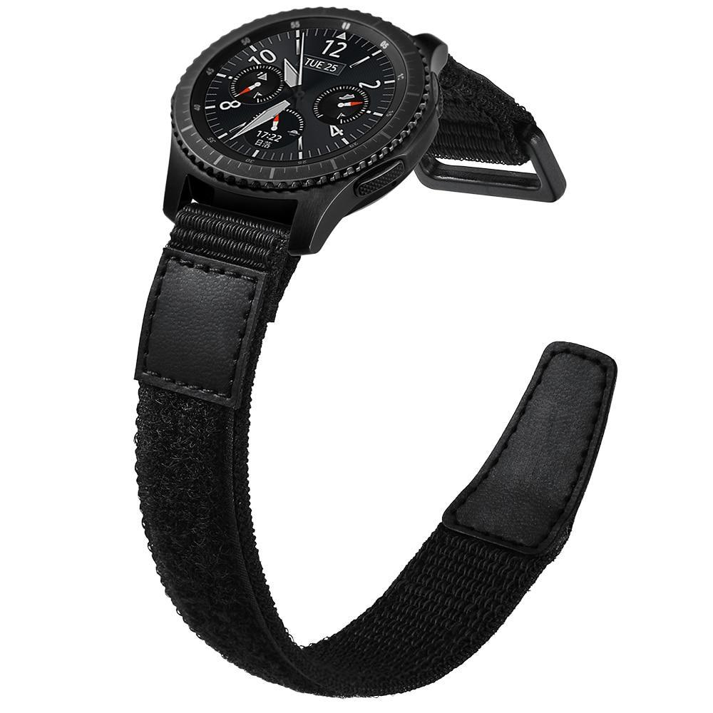 Watchbands Black / For Samsung Gear S3 Sport Nylon watch strap For Samsung Gear S3 frontier/classic galaxy watch 46mm huawei watch gt strap 22mm watch band bracelet S3|Watchbands|