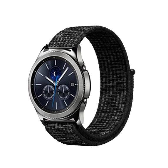 Watchbands black white 11 / 20mm Gear s3 Frontier strap For Samsung galaxy watch 46mm 42mm active 2 nylon 22mm watch band huawei watch gt strap amazfit bip 20 44