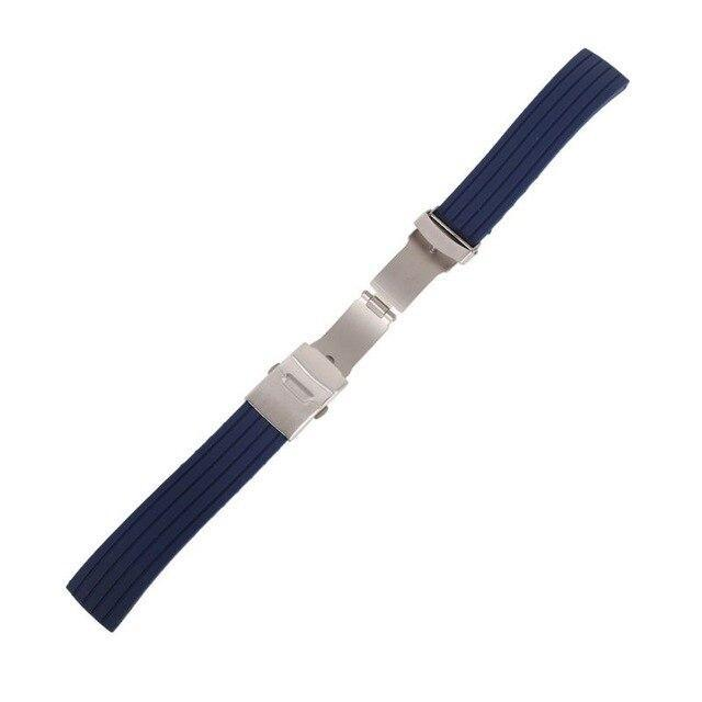 Watchbands blue / 16mm New Hot Rubber Watch Strap Band Deployment Buckle Waterproof Watchband 16mm,18mm, 20mm, 22mm, 24mm|Watchbands|