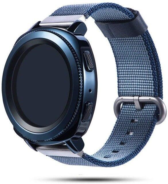Watchbands blue / 20mm Woven nylon band for Samsung Galaxy Watch 46mm 42mm Active 2 Huawei GT 2 strap Magic Huami Amazfit Bracelet watch Band 22mm 20mm