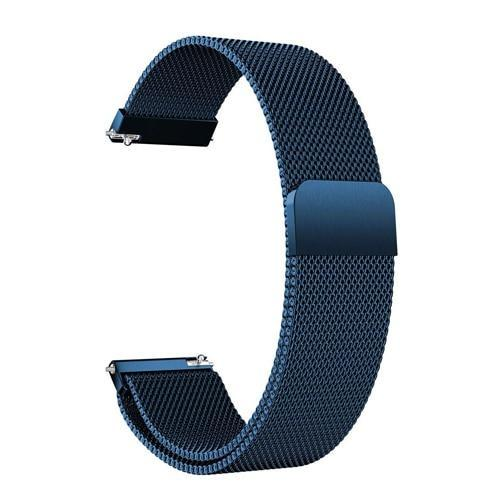 Watchbands blue / 22mm 20mm/22mm Universal Milanes loop strap Magnetic Closure Stainless Steel Watch Band Quick Release metal smartwatch bracelet belt