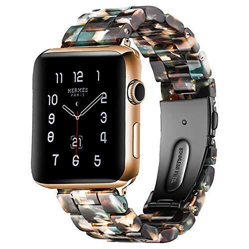 Watchbands Blue bloom / 42mm/44mm Resin Strap For Apple watc0h 5 4 44mm 40mm iwatch band 42mm 38mm stainless steel buckle Watchband bracelet Apple watch 5 4 3 2 1