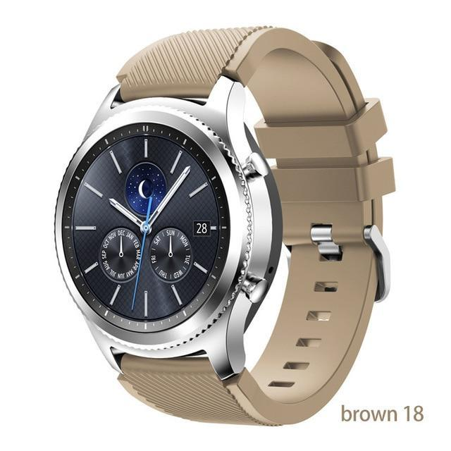 Watchbands brown 18 / 22mm 20 22mm watch band For Samsung Galaxy watch 46mm 42mm active 2 gear S3 Frontier strap huawei watch GT 2 strap amazfit bip 47 44