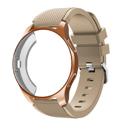 Watchbands brown 18 / Galaxy watch 42mm Case+20mm watch strap For Samsung gear S3 Frontier 46mm huawei watch GT strap 22mm watch band amazfit bip strap+protective case