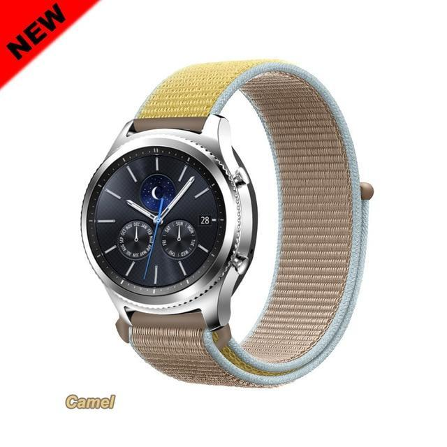 Watchbands Camel 48 / 20mm Gear s3 Frontier strap For Samsung galaxy watch 46mm 42mm active 2 nylon 22mm watch band huawei watch gt strap amazfit bip 20 44