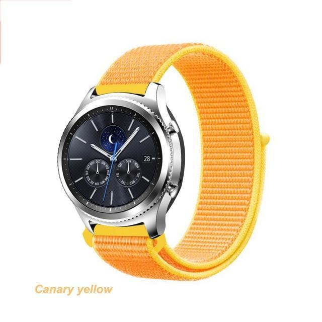 Watchbands Canary Yellow 40 / 20mm Gear s3 Frontier strap For Samsung galaxy watch 46mm 42mm active 2 nylon 22mm watch band huawei watch gt strap amazfit bip 20 44