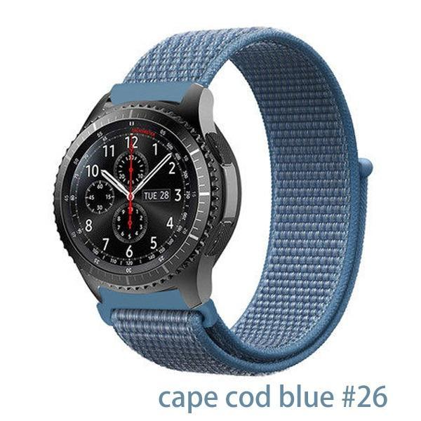 Watchbands cape cod blue 26 / 20mm Gear s3 Frontier strap For Samsung galaxy watch 46mm 42mm active 2 nylon 22mm watch band huawei watch gt strap amazfit bip 20 44